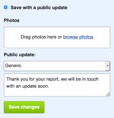 Use a template to make public updates faster