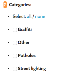 You can allocate categories to individual users by checking the relevant category boxes