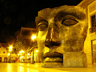 Big Beautiful Face Statue in Tenerife by epSos.de